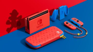 Nintendo Switch bleu et rouge 1